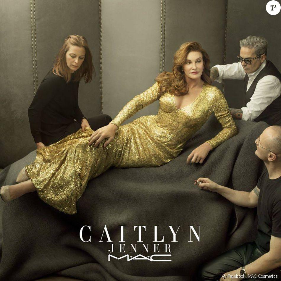 Photo de Caitlyn Jenner pour M.A.C. 2016.