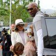 Lamar Odom, Khloé Kardashian et ses neveux Mason Disick et Penelope Disick à Hagoura Hills le 27 mars 2016.