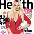 """Khloé Kardashian en couverture du magazine """"Health""""."""