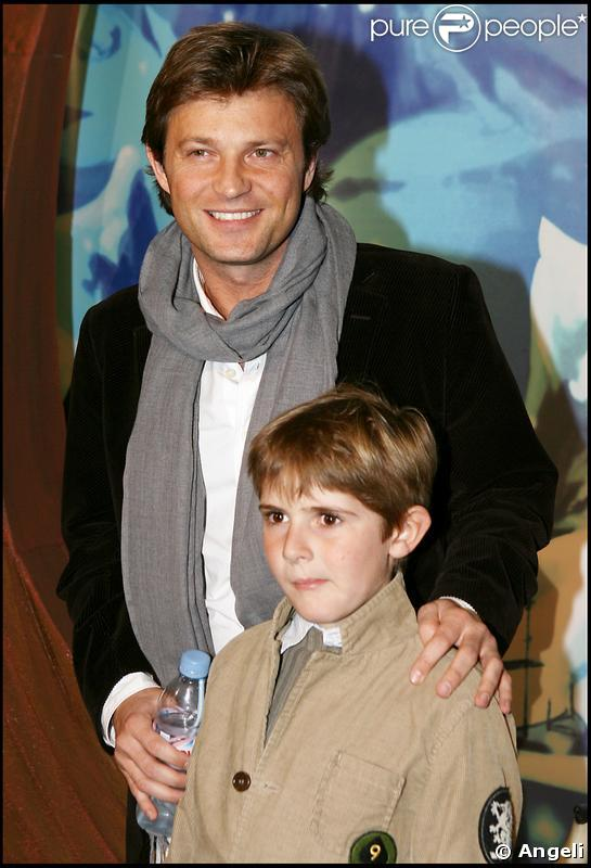 Laurent Delahousse, ici avec son beau-fils Raphaël, est papa pour la seconde fois