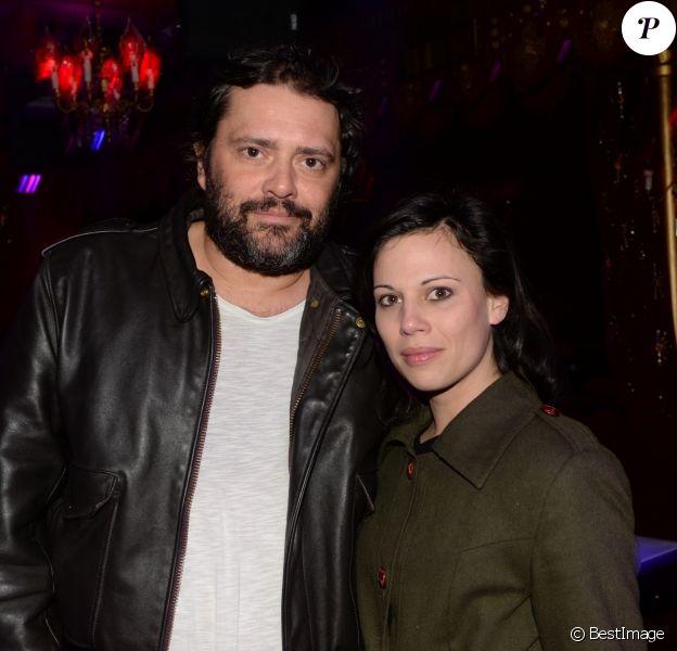 """Philippe Cura et sa femme à l'after-party du film """"Il a déjà tes yeux"""" au Raspoutine à Paris, France, le 16 janvier 2017. © Rachid Bellak/Bestimage"""