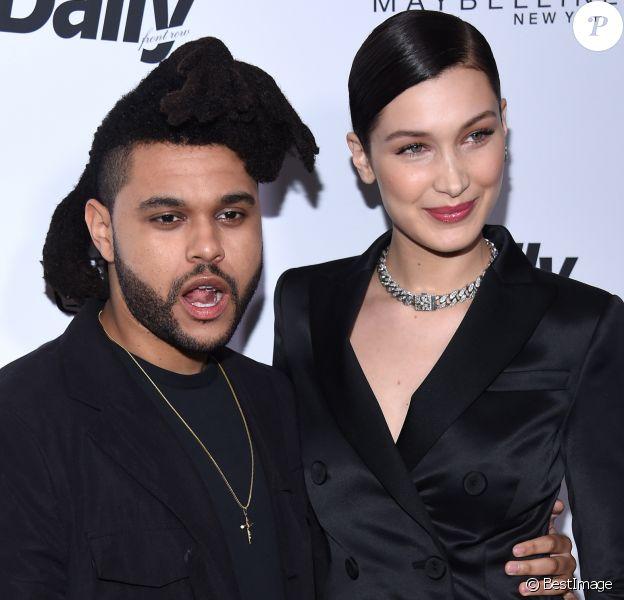 """The Weeknd (Abel Makkonen Tesfaye) et Bella Hadid - People à la soirée """"The 2016 Fashion Los Angeles Awards"""" à l'hôtel Sunset Tower à West Hollywood. Le 20 mars 2016"""
