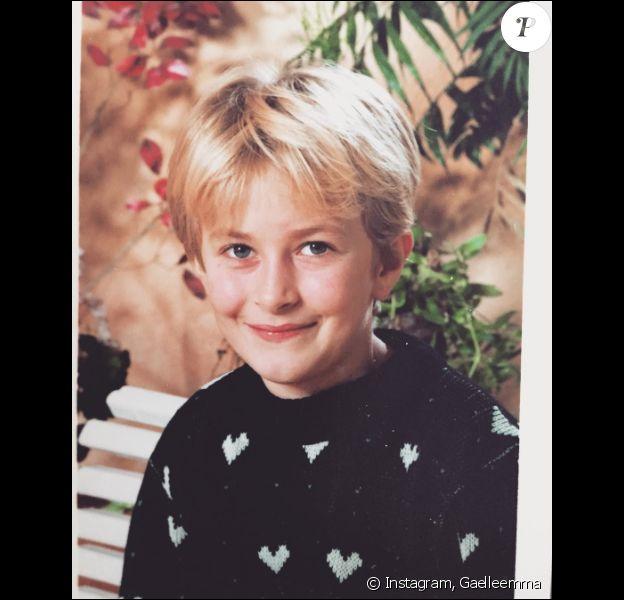 Gaëlle Petit (Les Ch'tis) enfant... un petit côté garçon manqué !