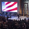 """Donald Trump lors du dîner """"Candlelight"""" organisé pour en remerciement aux donateurs et aux soutiens de la campagne de Trump à Washington le 19 janvier 2017"""