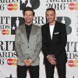 Louis Tomlinson, Liam Payne à la Cérémonie des BRIT Awards 2016 à l'O2 Arena à Londres, le 24 février 2016.