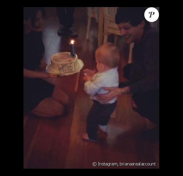 Briana Jungwirth et Louis Tomlinson célèbrent le premier anniversaire de leur fils Freddie, le 22 janvier 2016. Photo publiée sur Instagram.