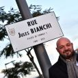 Philippe Bianchi, le père de Jules Bianchi, lors de l'inauguration de la rue Jules Bianchi à Nice le 23 janvier 2017, en hommage au pilote de F1 niçois victime d'un accident lors du Grand Prix du Japon et décédé des suites de ses blessures en juillet 2015.