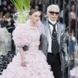 """Défilé de mode """"Chanel"""", collection Haute-Couture printemps-été 2017 au Grand Palais à Paris. Le 24 janvier 2017."""