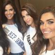 Iris Mittenaere (Miss France 2016) à Manille pour le concours Miss Univers 2016, en janvier 2017. Ici avec Miss Mexico, Miss République Dominicaine et Miss Argentine.