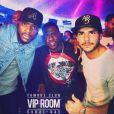 """Rodolphe, candidat anonyme des """"Anges 9"""" avec Kevin Hart en soirée à Dubaï, Instagram, 2017"""