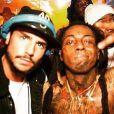 """Rodolphe, candidat anonyme des """"Anges 9"""" pose avec Lil Wayne lors d'une soirée à Dubaï, Instagram, 2016"""