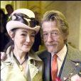 Exclusif - John Hurt et Anwen Rees-Myers lors de leur mariage à Westminster, Londres, en février 2005.