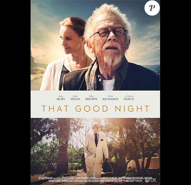 John Hurt incarne dans That Good Night, d'Eric Styles, un scénariste septuagénaire qui n'a plus beaucoup de temps à vivre et l'emploie à recoller les morceaux avec son fils. Le film, attendu sur les écrans en 2017, fait tristement écho au cancer qui a emporté l'acteur britannique, le 25 janvier 2017 à 77 ans.