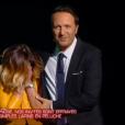 """Priscilla terrifiée par une paire de pantoufles dans """"Stars sous hypnose"""" sur TF1 le 28 janvier 2017."""