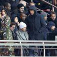 Roberto Mancini et sa compagne - People au match de ligue 1 Paris Saint-Germain (PSG) - AS Monaco (1-1) au Parc des Princes à Paris, le 29 janvier 2017.