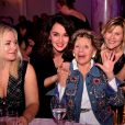 """Annie Cordy, au centre entourée par Stéphanie Parejo et Vanessa Valence - Dîner de gala de l'association """"Enfant Star & Match"""" à l'hôtel Carlton à Cannes, le 28 janvier 2017. © Bruno Bebert/Bestimage"""