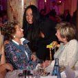 """Annie Cordy, à gauche, et Nathalie Marquay-Pernaut  - Dîner de gala de l'association """"Enfant Star & Match"""" à l'hôtel Carlton à Cannes, le 28 janvier 2017. © Bruno Bebert/Bestimage"""