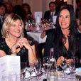 """Vanessa Valence, à gauche, et Nathalie Marquay-Pernaut - Dîner de gala de l'association """"Enfant Star & Match"""" à l'hôtel Carlton à Cannes, le 28 janvier 2017. © Bruno Bebert/Bestimage"""