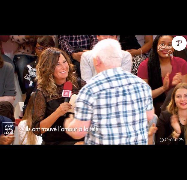 """Thierry Olive drague Evelyve Thomas devant sa femme Annie, le 30 janvier dans l'émission """"C'est mon choix"""" sur Chérie 25."""
