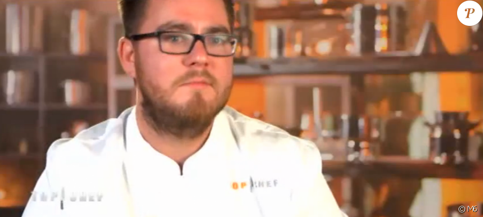 """Carl est éliminé - """"Top Chef 2017"""" sur M6. Le 1er février 2017."""