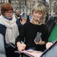 Marina Foïs - Arrivées pour le déjeuner des nominations des 'César' au Fouquet's à Paris Le 4 Février 2017.