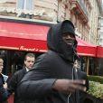 Omar Sy - Arrivées pour le déjeuner des nominations des 'César' au Fouquet's à Paris Le 4 Février 2017.
