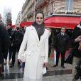Noémie Merlant - sac Roger Vivier- Arrivées pour le déjeuner des nominations des 'César' au Fouquet's à Paris Le 4 Février 2017.