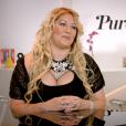 Loana, portant un collier du Boudoir de Ladybird, en interview exclusive avec Laurent Argelier pour pour Purepeople.com le 20 avril 2016