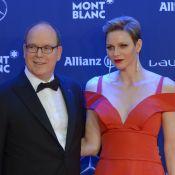 Charlene de Monaco décolletée au bras d'Albert, entourés de couples glamour