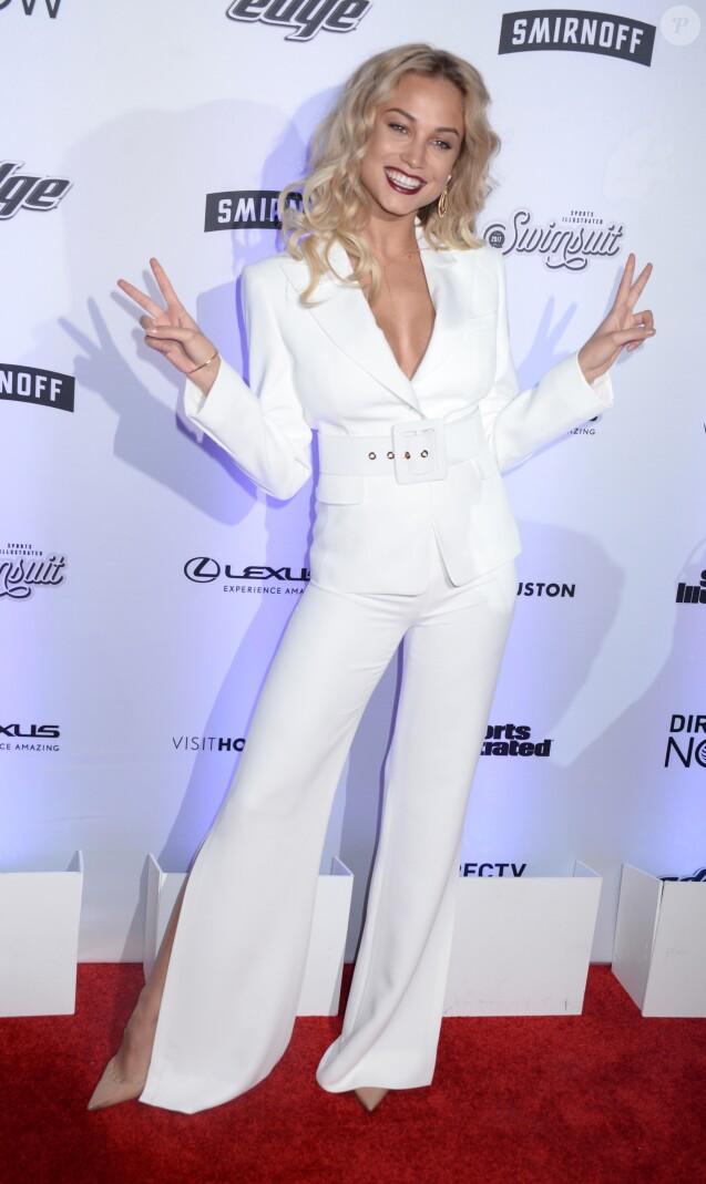 Rose Bertram- Soirée de sortie du magazine Sports Illustrated Swimsuit 2017 au Center415. New York, le 16 février 2017.