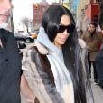 Kim Kardashian quitte l'hôtel Mercer lors de la fashion week de New York le 14 février 2017.