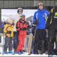 Iñaki Urdangarin et ses enfants aux sports d'hiver