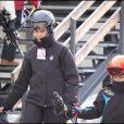 Elena d'Espagne et ses enfants aux sports d'hiver