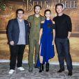 Josh Gad, Dan Stevens, Emma Watson et Luke Evans lors du photocall de La Belle et la Bête à l'hôtel Le Meurice à Paris le 20 février 2017. © Olivier Borde / Bestimage