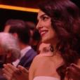 Amal - George Clooney reçoit le César d'honneur des mains de Jean Dujardin, sous le regard de sa femme Amal - 24 février 2017