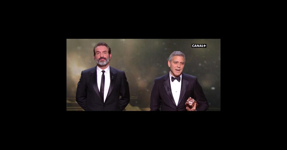 Jean dujardin et george clooney pendant les c sar 2017 - Jean dujardin et george clooney ...