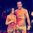 Jenifer dans les coulisses du spectacle des Enfoirés (Mission Enfoirés) avec Amir. Photo publisée sur Instagram.