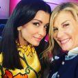 Jenifer dans les coulisses du spectacle des Enfoirés (Mission Enfoirés) avec Michèle Laroque. Photo publisée sur Instagram.