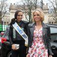 """Alicia Aylies (Miss France 2017) et Sylvie Tellier Défilé """"Guy Laroche"""", collection prêt-à-porter automne-hiver 2017-2018. Paris, le 1er mars 2017. © CVS/Veeren/Bestimage"""