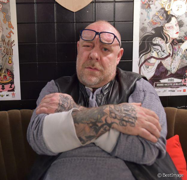 """Exclusif - Le tatoueur Tin-Tin à la conférence de presse du """"Mondial du Tatouage 2017"""" à la Halle de La Villette (du 3 au 5 mars 2017). Paris le 19 janvier 2017. © Giancarlo Gorassini/Bestimage"""