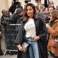 """Majda Sakho arrive au Musée Rodin pour assister au défilé de mode """"Christian Dior"""", collection prêt-à-porter Automne-Hiver 2017-2018. Paris, le 3 Mars 2017.© CVS/Veeren/Bestimage"""