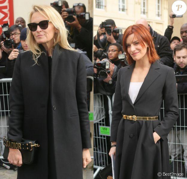 Estelle Lefébure et Fauve Hautot comptaient parmi les spectatrices stars du défilé Christian Dior au musée Rodin. Paris, le 3 mars 2017.
