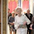 La princesse Alexandra de Kent le 29 novembre 2016 à Buckingham Palace lors d'une réception organisée par sa cousine la reine Elizabeth II en l'honneur de son 80e anniversaire et de ses patronages.