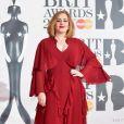 """Adele à la soirée des """"BRIT Awards"""" à l'O2 de Londres le 24 février 2016."""