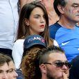 Erika Choperena (compagne d'Antoine Griezmann) lors du match de la finale de l'Euro 2016 Portugal-France au Stade de France à Saint-Denis, France, le 10 juillet 2016.