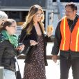Heidi Klum - Les acteurs sur le tournage de 'Ocean's Eight' à Los Angeles, le 6 mars 2017