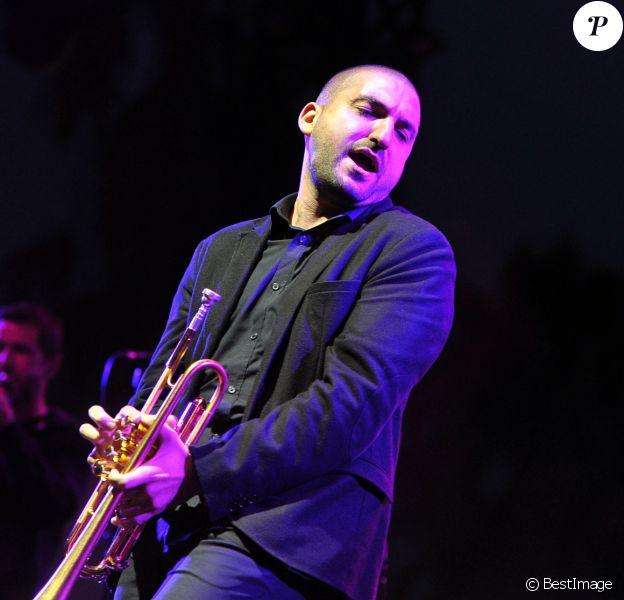 Le trompetiste franco libanais Ibrahim Maalouf est au Nice Jazz Festival à Nice, le 9 juillet 2014.
