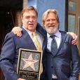 John Goodman, Jeff Bridges - Inauguration de la plaque de John Goodman sur le Walk Of Fame à Hollywood. Le 10 mars 2017  Celebrities attending the Hollywood Walk Of Fame Ceremony for John Goodman in Hollywood, California on March 10, 2017.10/03/2017 - Hollywood