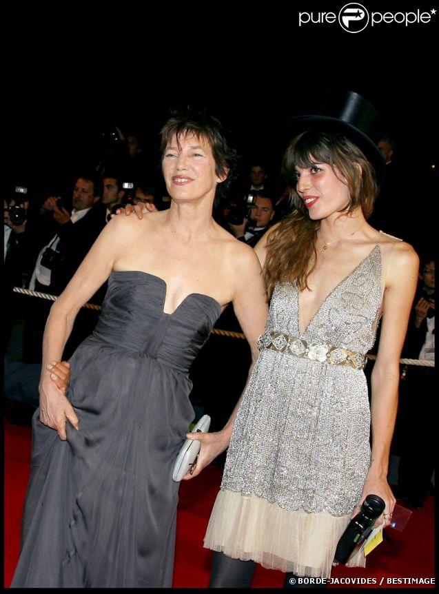 Lou Doillon et sa mère Jane Birkin au Festival de Cannes, le 21 mai 2007.