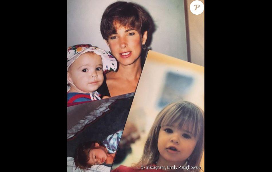 Photos d'Emily Ratajkowski enfant et de sa mère Kathleen Balgley. Image publiée le 14 mars 2017.